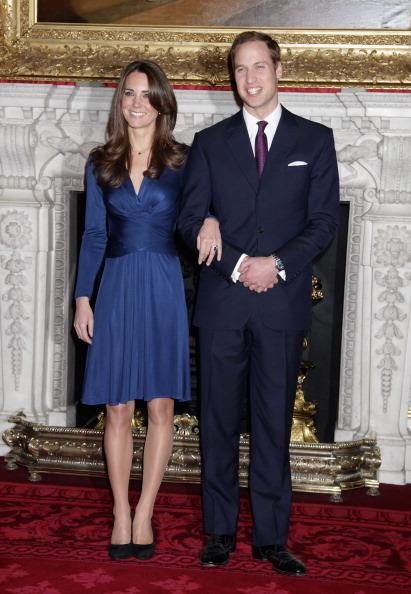 The $616 blue Issa London wrap dress Kate Middleton wore at her engagement announcement sold out at London's Harvey Nichols department store in 24 hours.