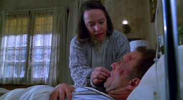 Kathy Bates and James Caan in MGM's Misery