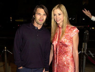 Olivier Martinez and Mira Sorvino at the Beverly Hills premiere of Miramax Zoe's Amelie