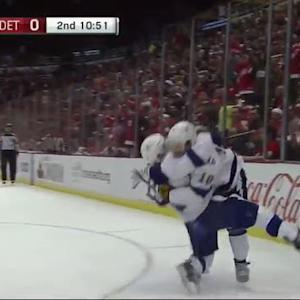 Johnson fires 2nd goal past Mrazek's glove