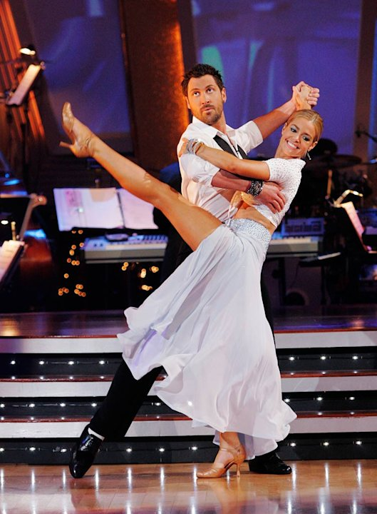 Denise Richards and Maksim Chmerkovskiy perform the Quickstep to &quot;We Go Together&quot; from the Grease soundtrack on &quot;Dancing with the Stars.&quot; 