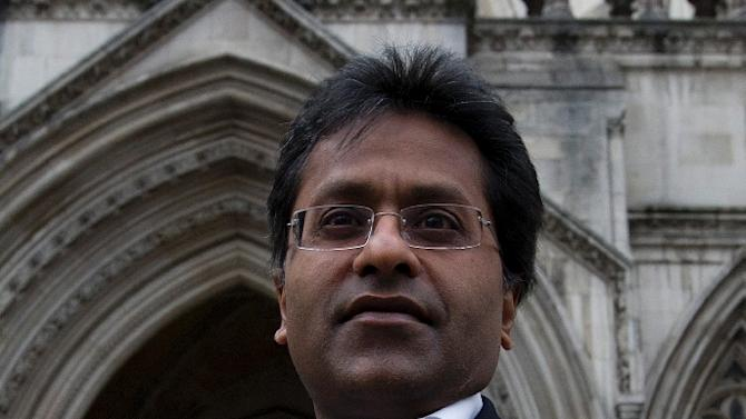 Former chairman of the Indian Premier League (IPL), Lalit Modi, leaves the High Court in central London on March 5, 2012, after a hearing in a libel case brought against him by former New Zealand cricket captain Chris Cairns