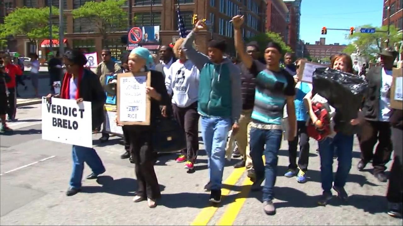 Cleveland protests erupt after officer found not guilty in fatal shooting of two unarmed suspects