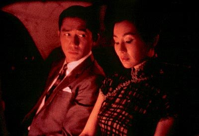 Tony Leung as Mr. Chow and Maggie Cheung as Mrs. Chan in USA Films' In The Mood For Love
