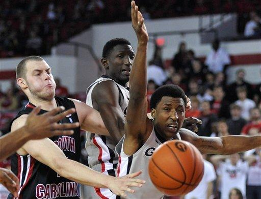 Caldwell-Pope, Georgia top South Carolina 62-54 OT