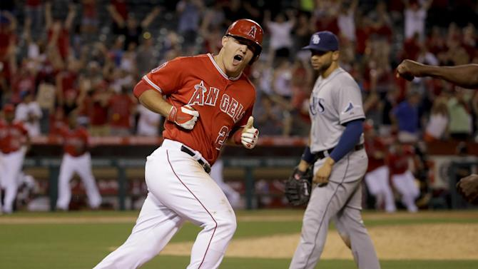 Trout's 3-run HR lifts Angels over Rays 6-5