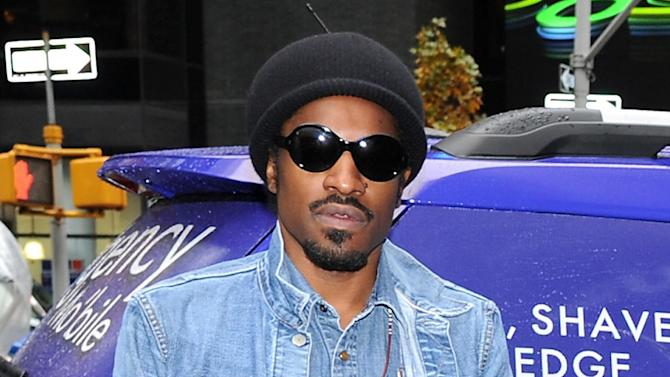 """FILE - This Nov. 13, 2012 file photo shows musician and actor Andre Benjamin, better known as Andre 3000, during a promotional event for Gillette in New York. Benjamin will star as rock legend Jimi Hendrix in the film, """"All is By My Side,"""" set for release in 2013. Andre 3000's mother Sharon Benjamin-Hodo passed away in her sleep early Tuesday, May 28, 2013, at her home in Rex, Ga., a representative for the rapper said Wednesday. She was 58. (Photo by Evan Agostini/Invision/AP, file)"""