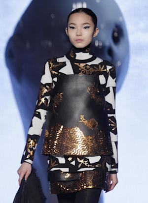 A model wears a creation for Kenzo's ready-to-wear …