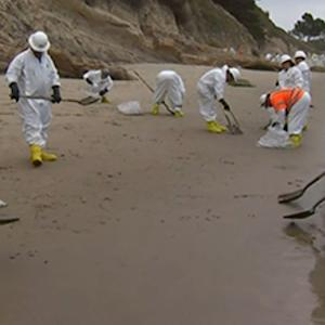 Crews Cleanup Oil Spill From California Coast