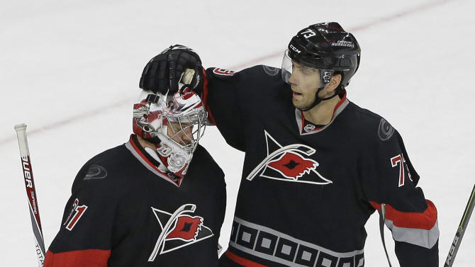 Khudobin helps Hurricanes blank Capitals 3-0