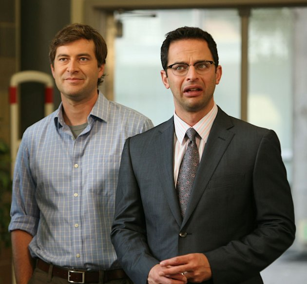 "Mark Duplass and Nick Kroll in ""The League."""