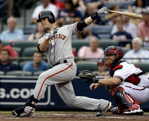 Posey drives in 5 runs as Giants beat Braves 9-0