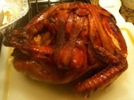 My finished turkey, roasted to perfection!