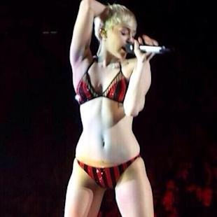 Miley Cyrus felt 'shy' performing 23 in actual underwear