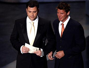 Jimmy Kimmel and Ty Pennington Presenters for Outstanding Directing for a Variety, Music or Comedy Program Emmy Awards - 9/19/2004