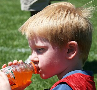 What should kids drink after exercise?