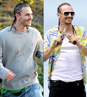 James Franco Channels Kevin Federline's Cornrows Look Alongside Bikini-Clad Selena Gomez