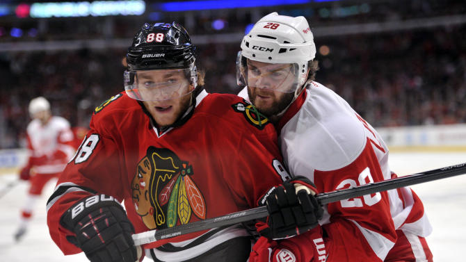NHL: Stanley Cup Playoffs-Detroit Red Wings at Chicago Blackhawks