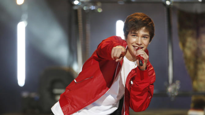 Austin Mahone onstage during the Radio Disney Music Awards at the Nokia Theatre on Saturday, April 27, 2013 in Los Angeles. (Photo by Todd Williamson /Invision/AP)