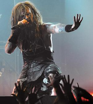 FILE-- This April 8, 2010 file photograph shows singer Rob Zombie as he performs during the second annual Revolver Golden Gods Awards in Los Angeles. The town of Woodbury, Conn. has taken steps to reduce noise following complaints from Zombie and his wife about a skate park near their home in the small Litchfield County community. (AP Photo/Chris Pizzello)