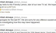 British Airways 'Twitter Account Hacked'
