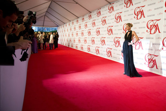 Doutzen Kroes arrives at the CFDA Fashion Awards on Monday, June 4, 2012, in New York. (Photo by Charles Sykes/Invision/AP)