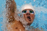 US swimmer Ryan Lochte competes in the men&#39;s 400m individual medley heats swimming event at the London 2012 Olympic Games