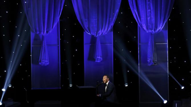 Musician John Legend performs at the 47th NAACP Image Awards in Pasadena