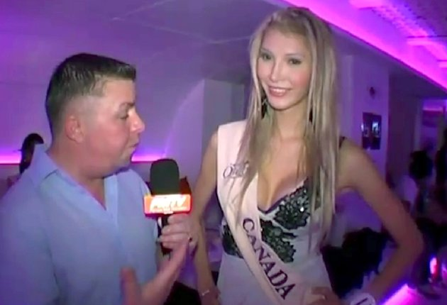 In this image provided by Miss International Queen via YouTube, Jenna Talackova, of Vancouver, British Columbia, speaks during a video interview at the 2010 Miss International Queen Competition in Thailand. The transgendered blond that was kicked out of the Miss Universe Canada pageant is urging her supporters to sign an online petition calling for her reinstatement. (AP Photo/Miss International Queen via YouTube, via The Canadian Press) ONE TIME USE ONLY; NO ARCHIVES; NO SALES