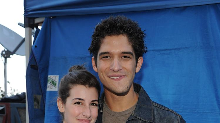 From left, Seana Gorlick and Tyler Posey are seen backstage at the 2013 FOX Teen Choice Awards at the Gibson Amphitheater, on Sunday, August 11, 2013 in Universal City, Calif. (Photo by Frank Micelotta/Invision/AP Images)