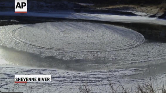 Amazing Ice Circle Appears On River