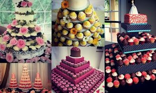 Change up your wedding and add excitement by serving a cupcake wedding tower instead of a traditional wedding cake!