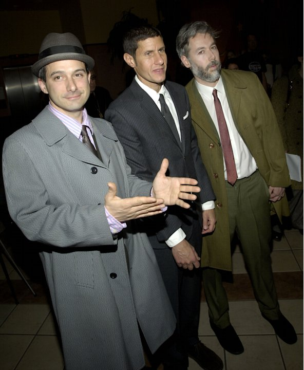 FILE - In this March 28, 2006 file photo, members of the Beastie Boys, from left, Adam Horovitz, known as Adrock, Michael Diamond, known as Mike D and Adam Yauch, known as MCA, arrive at the premiere