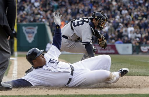 Tigers' Cabrera has 4 hits in 8-4 win over Yanks