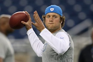 Matthew Stafford, ready for a re-breakout fantasy campaign. (Photo by Leon Halip/Getty Images)