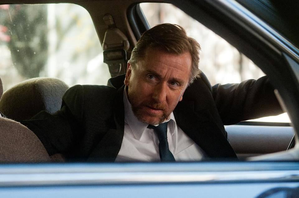"This film image released by Roadside Attractions shows Tim Roth in a scene from ""Arbitrage."" (AP Photo/Roadside Attractions, Myles Aronowitz)"