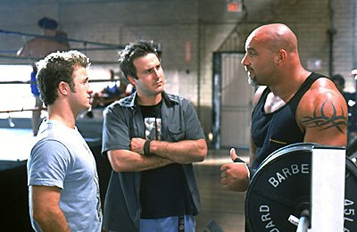 Scott Caan David Arquette and Bill Goldberg in Warner Brothers' Ready To Rumble