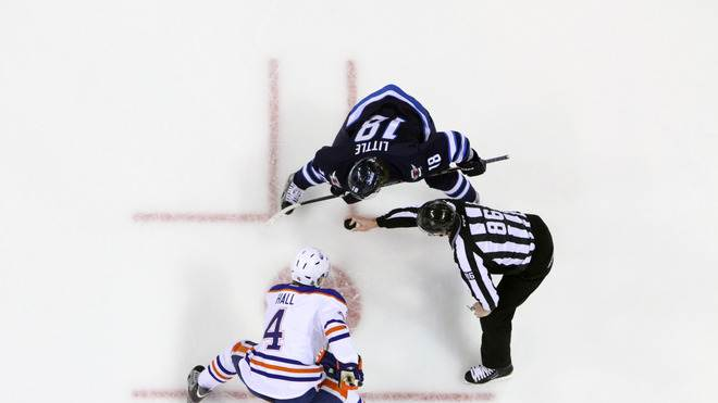 Taylor Hall #4 Of The Edmonton Oilers Gets Getty Images