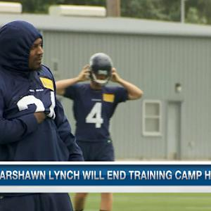 Marshawn Lynch reports to Seattle Seahawks camp