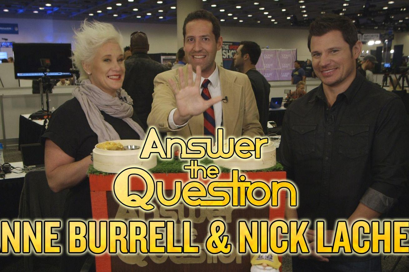 Nick Lachey and Anne Burrell form potent 1-2 trivia punch