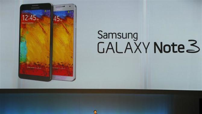 Shin President and CEO head of IT and Mobile Communication division of Samsung presents the Samsung Galaxy Note 3 at IFA consumer electronics fair in Berlin