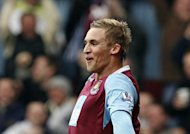 West Ham United's Jack Collison, pictured in 2009, scored twice as West Ham inched closer to bouncing straight back to the Premier League with a 2-0 win away to Cardiff in the first leg of their Championship play-off semi-final on Thursday