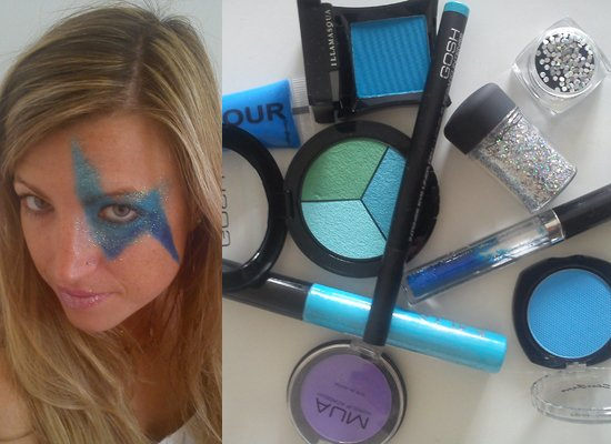 Blue David Bowie makeup tips 