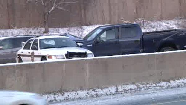 Police-involved crash on I-476 in Delco