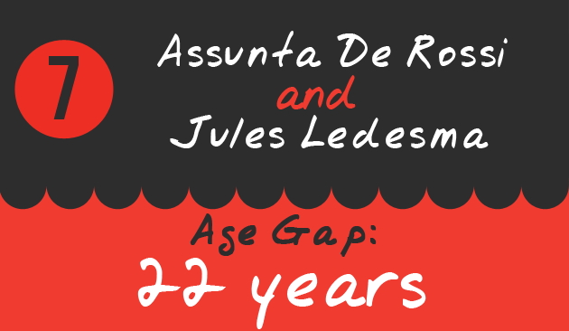 7. Assunta De Rossi and Jules Ledesma, Age Gap: 22 years