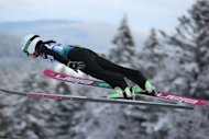 Japan's Sara Takanashi competes in the Women's Ski Jumping World Cup in Hinterzarten, southern Germany, on January 12, 2013. The diminutive 16-year-old, who is 1.51m tall, will be jumping at Sapporo this weekend when the World Cup returns to Japan