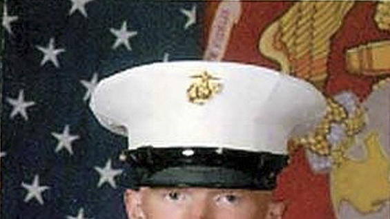 In this undated photo released by the U.S. Marine Corps via the Marietta Times, Marine Lance Cpl. Josh Taylor poses for a photograph. Taylor 21, with the 2nd Marine Expeditionary Force from Camp Lejeune, N.C., was killed with 6 other Marines after mortar shell  exploded during a training exercise at the Hawthorne, Nev., Army Depot. (AP Photo/U.S. Marin Corps)