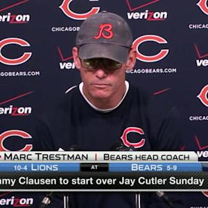 Chicago Bears head coach Marc Trestman: 'I've changed my mind... I think we need a spark'
