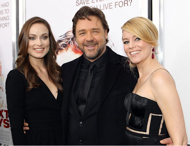 The Next Three Days 2010 NY Premiere Olivia Wilde Russell Crowe Elizabeth Banks