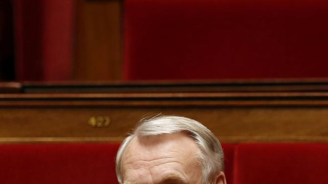 French deputy Jean-Marc Ayrault, former French socialist Prime Minister, attends the questions to the government session at the National Assembly in Paris
